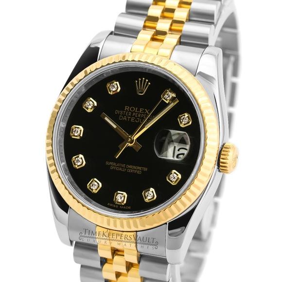 Rolex Other - Rolex Mens Datejust 116233 Factory Black Dial